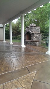 Stamped Concrete staining and Sealing